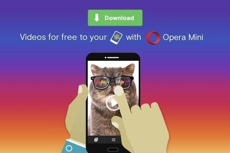 Opera Mini ya permite descargar vídeos para reproducirlos sin conexión | Aprendiendoaenseñar | Scoop.it
