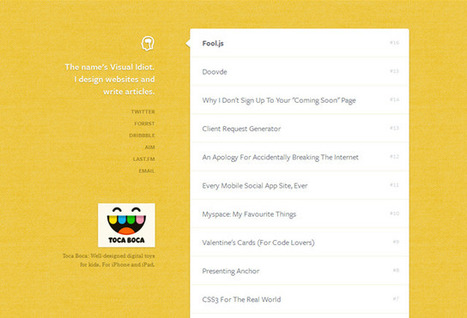 20 Creative Personal Blog Web Designs   Design Revolution   Scoop.it