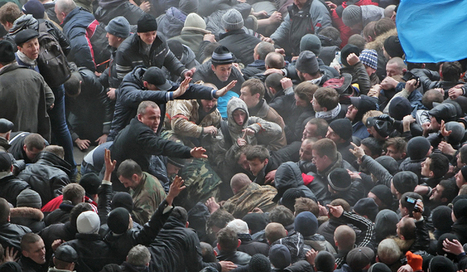 Euromaidan protestors start fight with pro-Russia activists in Donetsk | Saif al Islam | Scoop.it