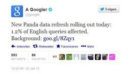 Google veröffentlicht das erste Panda Update 2013 - HEWO Internetmarketing | Crispy Content - Content & Strategy | Scoop.it