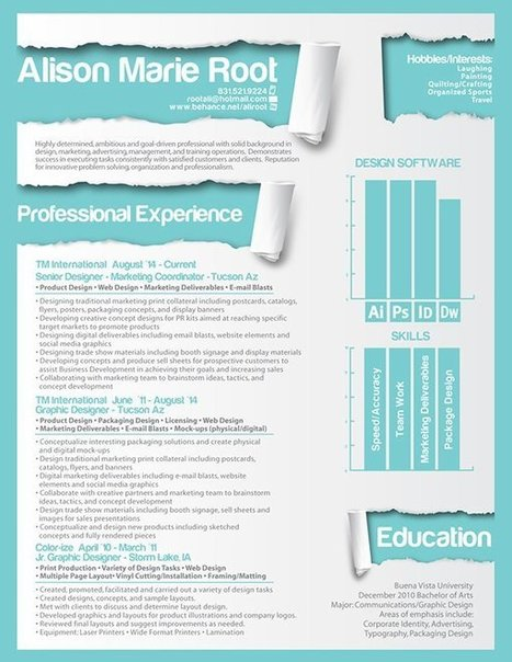 #CV #HR #RRHH 50 Inspiring Resume Designs: And What You Can Learn From Them | 1001 Glossaries, dictionaries, resources | Scoop.it
