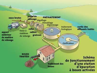 Organisation et fonctionnement d'une station d'épuration | SVT Pollution de rivière et danger pour la santé | Scoop.it