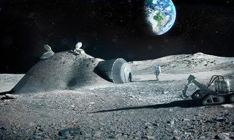 Costruire sulla Luna con stampanti 3D robotizzate, nuovo studio dell'ESA | Stampanti 3D | Scoop.it