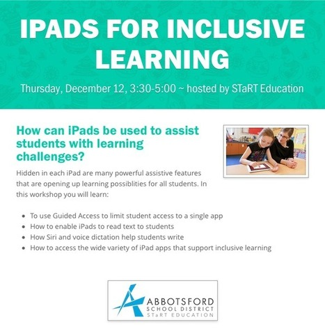 Using iPads to Support Inclusive Learning | Tech in teaching | Scoop.it