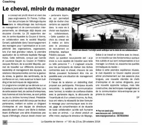 Les stages Manage'Horse dans la presse   Management et Stratégie   Scoop.it
