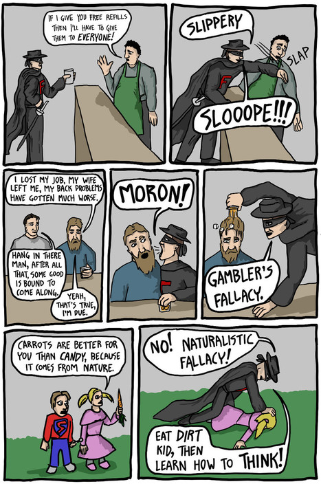 The Adventures of Fallacy Man - Existential Comics | Teacher Tools and Tips | Scoop.it