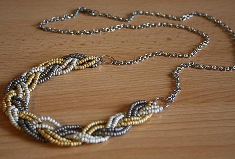 Tuto - Un collier tressé en perles de rocaille | Chouettes tutos | Scoop.it