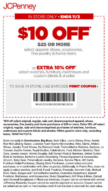 Jcp coupon code $10 off