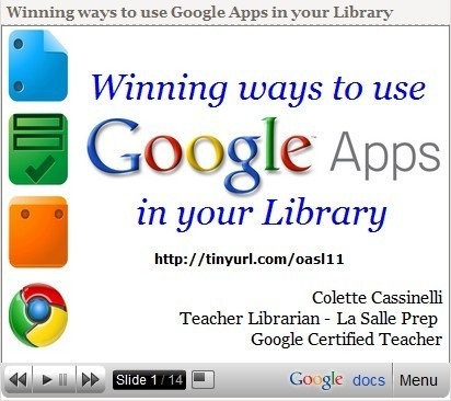 Integrating Google Tools 4 Teachers | omnia mea mecum fero | Scoop.it