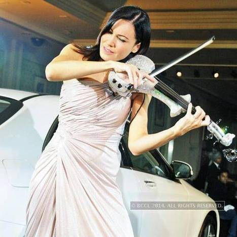Linzi Stoppard during the launch of all new Mercedes-Benz S-Class in New Delhi. | Electric Violin | Scoop.it