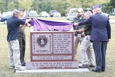 Purple Heart memorial dedicated - Jacksonville Daily News | Memorial, Monument and Mausoleum Designers | Scoop.it