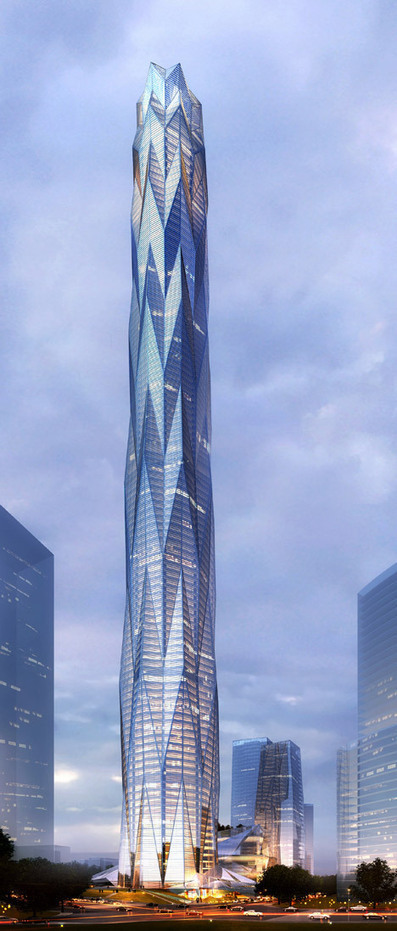 Construction starts on Smith and Gill's ice-inspired China skyscraper | Form, Structure & Complex Geometry Innovations | Scoop.it