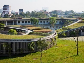 A spiralling green roof tops off a kindergarden in Vietnam | Vertical Farm - Food Factory | Scoop.it
