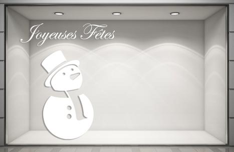 Sticker Noël - Bonhomme de Neige. Paris - Graphicarts | Lettrage adhésif et impression numérique | Scoop.it