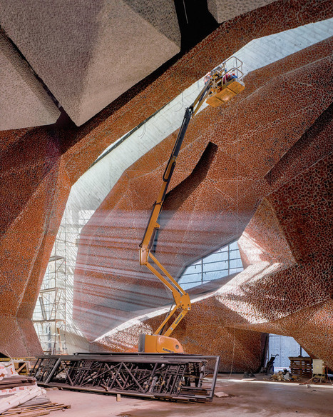 Fernando Menis CAVERNOUS concert hall in Poland uses crushed brickwork | The Architecture of the City | Scoop.it
