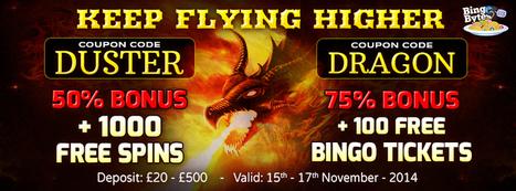 Redeem Coupon Codes to get Bingo Tickets and Free Spins at Bingo Bytes   Online Bingo Games   Scoop.it
