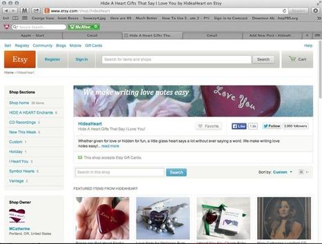 Hide A Heart®: Installing Etsy Mini-esque   Women Micro Biz-preneurs   Scoop.it