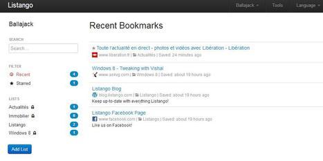 Vos bookmarks en ligne en toute simplicité avec Listango | Time to Learn | Scoop.it