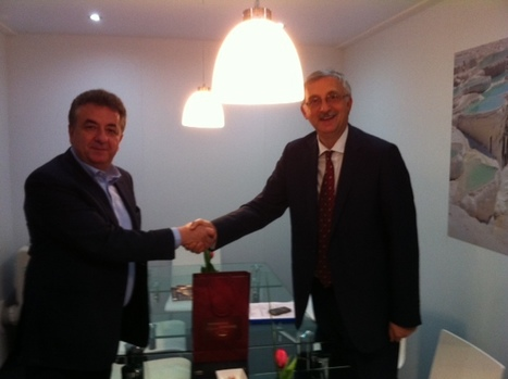 Governor Arnaoutakis w/ Mr Osazlan,  Secretary General of Turkey's Tourism | IncredibleCrete | Scoop.it