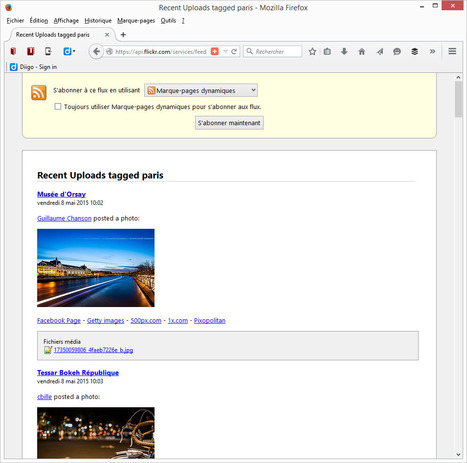 Flickr: direct RSS feeds disappeared? How to find them back! | RSS Circus : veille stratégique, intelligence économique, curation, publication, Web 2.0 | Scoop.it