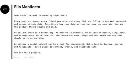 The Real Ello Takeaway for Communicators #ello | MarketingHits | Scoop.it