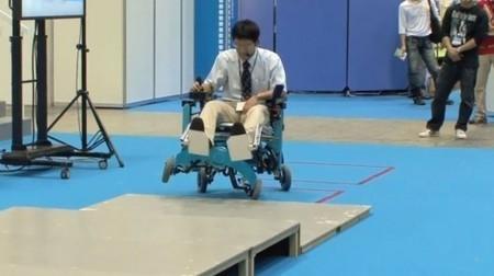 Chiba robotic wheelchair turns wheels into legs | Longevity science | Scoop.it