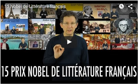 15 Nobel de Littérature français | Remue-méninges FLE | Scoop.it