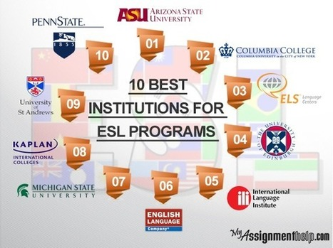 10 Best Institutions for ESL Programs | connyb | Scoop.it