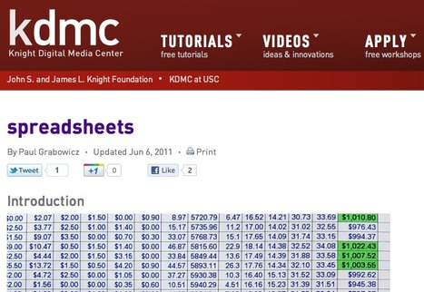 List of tutorials for journalists on how to use spreadsheets | data journalism | Scoop.it