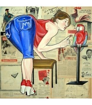 Perroquet - Elisabete Cargnello - Galerie d'art contemporain le hangART | Tableaux des artistes du hangART | Scoop.it