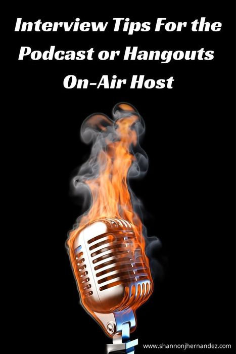 Interview Tips For the Podcast or Hangouts On-Air Host - Shannon J. Hernandez | GooglePlus Expertise | Scoop.it