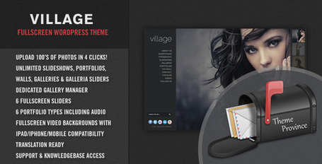 Village - An Awesome Fullscreen WordPress Theme | Premium Wordpress Themes | Scoop.it