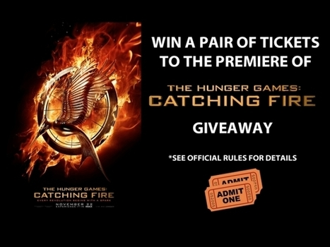 Win A Pair of Premiere Tickets to See Hunger Games: Catching Fire Giveaway - iamROGUE.com | Hunger Games in the Library (and other classrooms) | Scoop.it