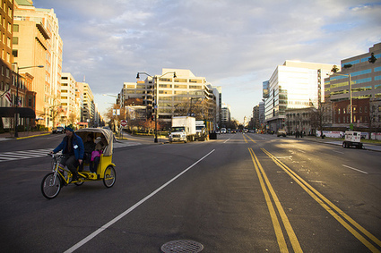 TheWashCycle: Pedicab on a closed road | Pedicabs in the Media! | Scoop.it