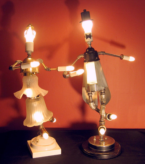 Light sculptures from salvaged lamps | Let's Upcycle! | Scoop.it