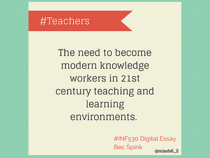 Teachers: The need to become modern knowledge workers in 21st century teaching and learning environments | Bec Spink- Knowledge Networks & Digital Innovation | Knowledge Networks and Digital Innovation | Scoop.it