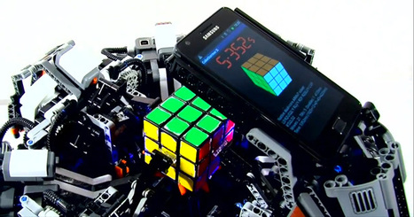 Le record du CubeStormer II   Actualités robots et humanoïdes   Scoop.it