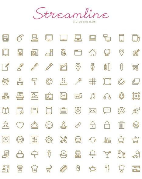 Streamline - 100 Free Vector Icons | Web Design Freebies | Scoop.it