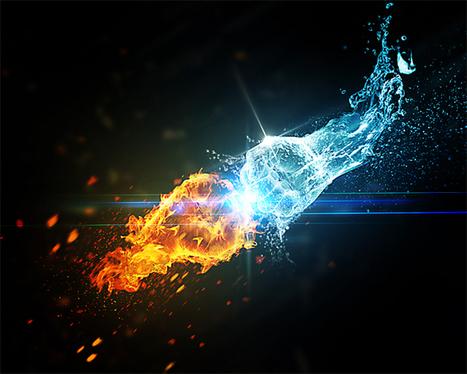 L'eau vs Le feu avec Photoshop - Tuto Photoshop les meilleurs tutoriaux photoshop parmis les tutoriaux photoshop du net Cs6, Cs5, cs4, cs3 et cs2 | Infographie+Web = Webdesign | Scoop.it