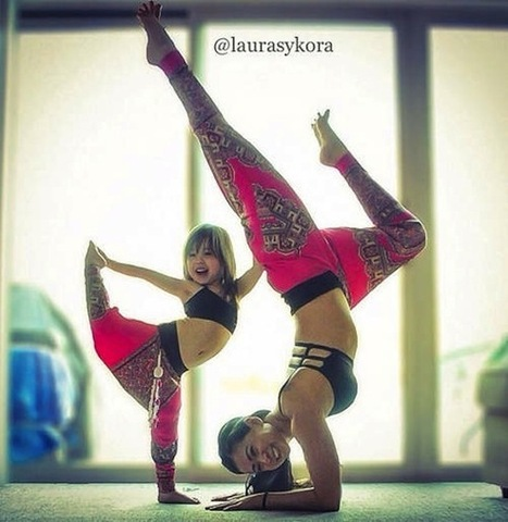 Mom and daughter's awesome poses make yoga seem really fun ... | Yoga Poses | Scoop.it