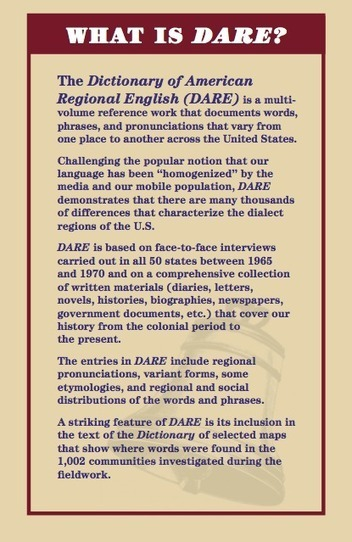 DARE | DICTIONARY OF AMERICAN REGIONAL ENGLISH | 6-Traits Resources | Scoop.it