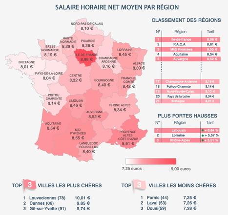 INFOGRAPHIE - Job de baby-sitting : région par région, quel salaire demander | Culture Mission Locale | Scoop.it