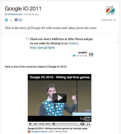 Making stories with social media and YouTube videos - Storifys Xavier Damman guest blogging at Google Code blog | Brand & Content Curation | Scoop.it