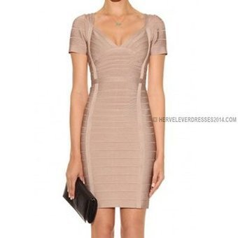 Nude Herve Leger Short Sleeve Bandage Dresses [Short Sleeve Bandage Dresses] - $178.00 : Cheap Herve Leger Dresses 2014 with Discount Price   herve leger dresses   Scoop.it