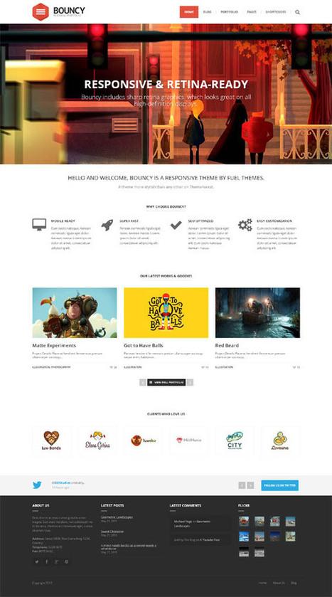 Bouncy, WordPress Premium Creative Portfolio Theme | WP Download | Premium Joomla Templates Download | Scoop.it