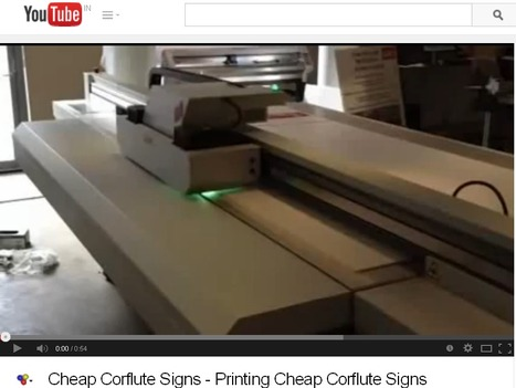 Cheap Corflute Signs Printing Process - YouTube | Plastic Printing Pty Ltd | Scoop.it