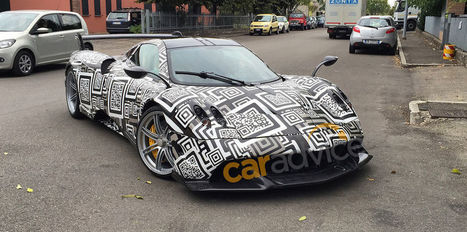 2016 Pagani Huayra R spy photos with QR code easter egg - CarAdvice | QR Code Art | Scoop.it