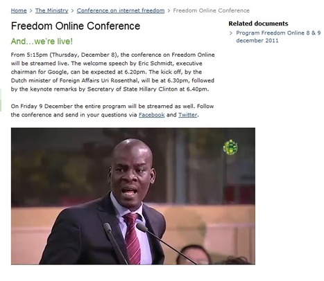 Freedom Online Conference streaming live from HAGUE! | From the Sofa to #SOPA | Scoop.it