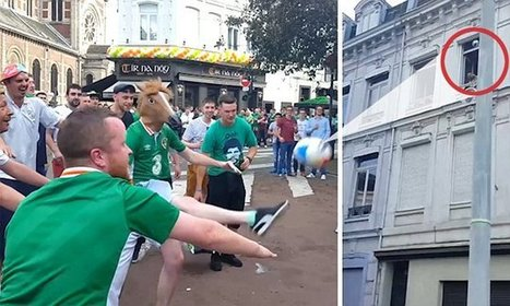 Irish man in horse mask scores funny goal in Lille | Strange days indeed... | Scoop.it