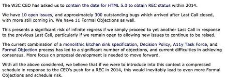 HTML 5 en 2014, HTML 5.1 en 2016 selon le W3C | BlogNT | Veille technologique: développement web | Scoop.it